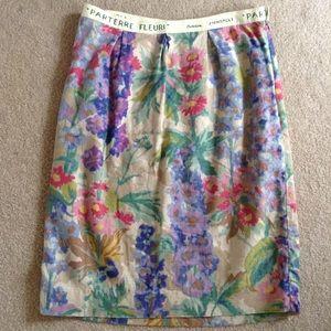 floreat ANTHROPOLOGIE linen pencil skirt XS 2